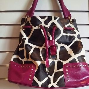 Handbags - Cow Pattern Drawstring Purse